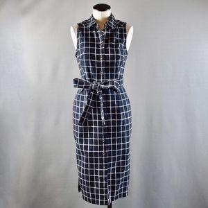 (Betsey Johnson) Gingham Tie Waist Dress